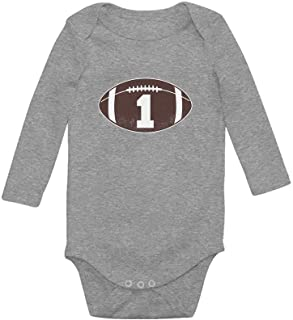 Tstars Gift for 1 Year Old Boy Football Baby Boy 1st Birthday Baby Long Sleeve Bodysuit
