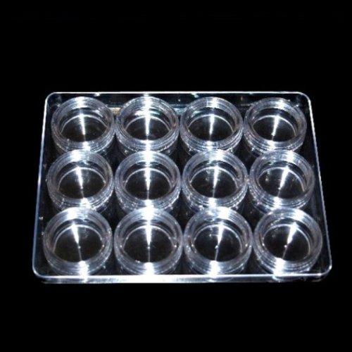 Boîte de présentation pour nail art - 12 pots vides