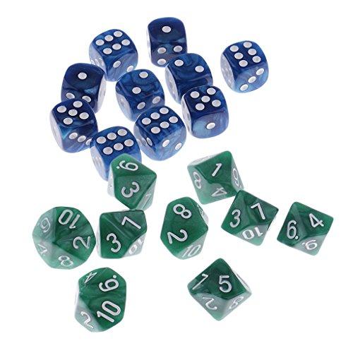 lahomia 20pcs D6 Spot Dice D10 Dados Digitales para Party Bar Casino Suministros de Juegos de Bricolaje