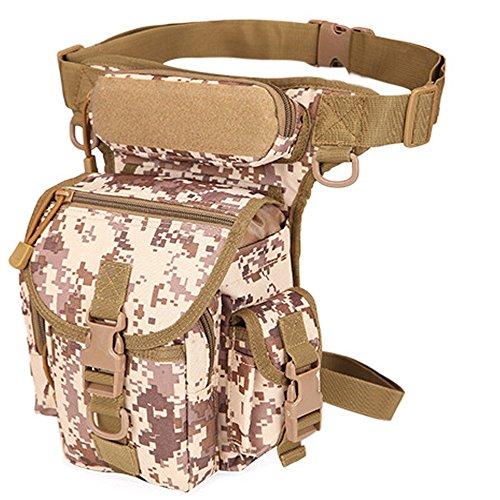Rullar Multiusos Senderismo Cintura Fanny Pack táctico Militar Gota Pierna Bolsa Running