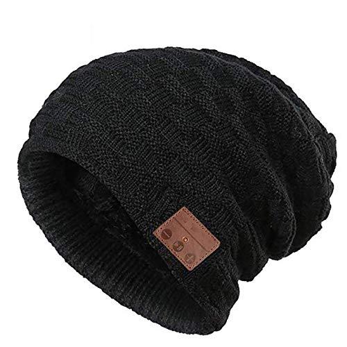 DJDL Bluetooth Beanie Music Hat Winter Strickmütze Cap Wireless Headphone Musiklautsprecher Beanie Hat, Weihnachtsgeburtstagsgeschenke für Männer Frauen, Eingebautes Mikrofon