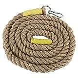 NiceDD Las cuerdas de escalada para gimnasio de 13 pies de servicio pesado para adultos mejoran el agarre y aumentan la potencia (13, 1.5 PULGADAS)