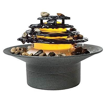 Homedics Zen Relaxation Tabletop Fountain, Gray