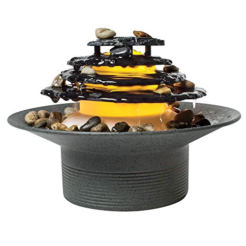 Homedics Zen Relaxation Tabletop Fountain, Gray