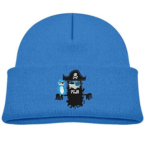 NR Fashion Bonnet tricoté pour bébé garçon et fille Motif pirates