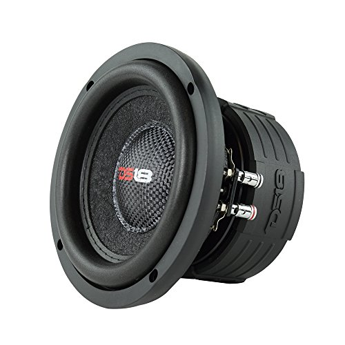 "DS18 Elite Z6 Subwoofer in Black - 6.5"", 600W Max Power, 300W RMS, Dual 4 Ohms, DVC - Premium Car Audio Bass Speaker Great for Low Frequencies and High Power Applications (1 Speaker)"