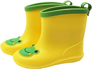 Vine Toddler rain Boots Babys Rain Boots Children Waterproof Shoes for Boys Girls Yellow