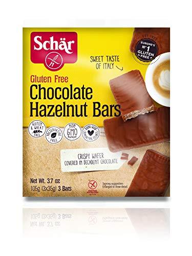 Schär Gluten Free Chocolate Hazelnut Bars, 3-Count (6-Pack)