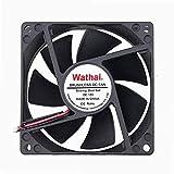 dc axial fan - Wathai 80x80x25mm 80mm Dual Ball Bearing DC Cooling Fan 12V 2Pin