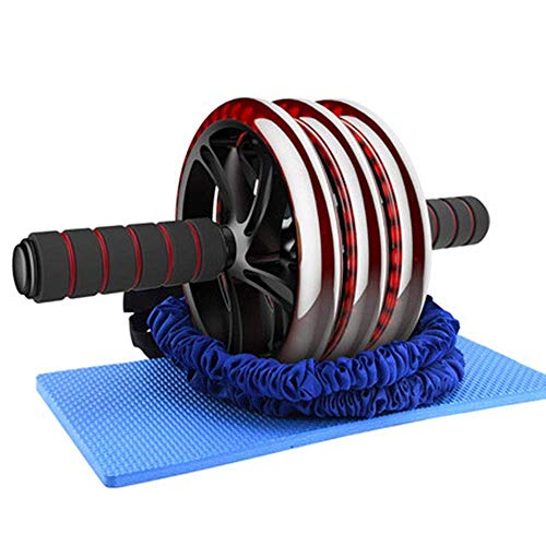 YDHWT Wheel Roller, Professionelles Abdominal-Fitnessgerät mit weichem Knieschoner for das Büro zu Hause, Crunch-Maschine mit rutschfesten Griffen for Männer, Frauen, Anfänger