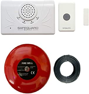 Door Alarm for Business When Entering - Safeguard Supply Commercial Series Wireless Door Chime for Business with Loud 6