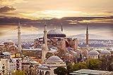 Istanbul City Skyline Art XXL Wandbild Kunstdruck Foto