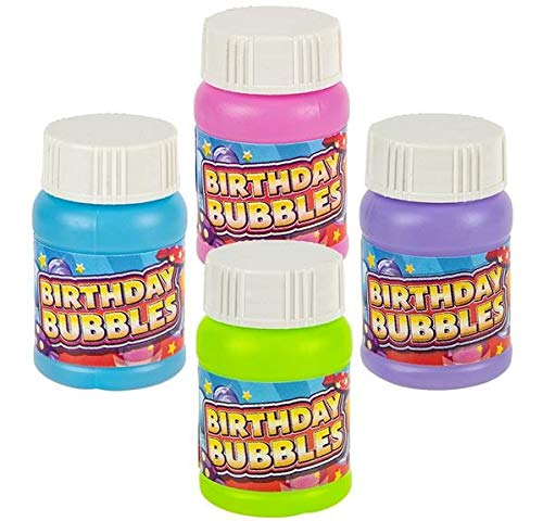 Rhode Island Novelty 1oz Happy Birthday Bubbles 48 Pack Assorted Colors