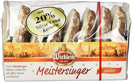 """Wicklein Feine Nürnberger \""""Meistersinger\"""" Oblaten-Lebkuchen, glasiert, 7er-Pack (7 x 200g)"""