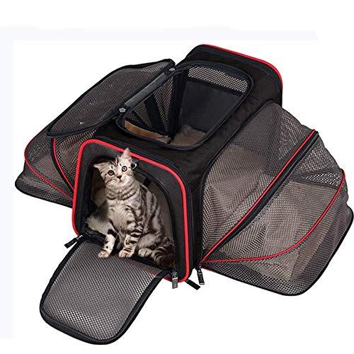 XUANBO La Bolsa de Transporte Plegable para Jaula de Viaje de Gato de Lado Suave es Muy Adecuada para Cachorros, Gatitos, Animales pequeños y medianos.