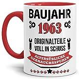 Tassendruck Geburtstags-Tasse Baujahr 1963' Innen & Henkel...