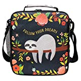FFY Go Sloth Kids Lunch Bag Insulated Lunch Bags Cute Large Lunch Tote Bag Cool Freezable Lunch Tote 5L with...