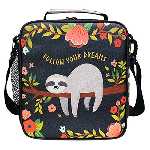 FFY Go Sloth Kids Lunch Bag Insulated Lunch Bags Cute Large Lunch Tote Bag...