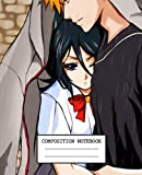 Composition Notebook: Anime Bleach Soft Glossy Cover Wide Ruled Lined Pages Book 7.5 x 9.25 Inches 110 Pages
