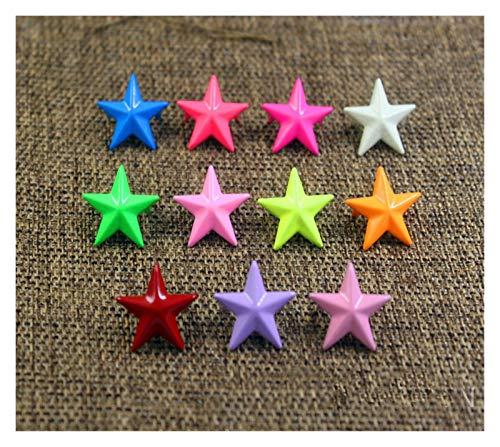 WEIGENG Caja Kit Colorido Estrella Ropa Pulsera Remache Uñas Sombrero Zapato Bolsa Jeans Artesanía Ropa Accesorios