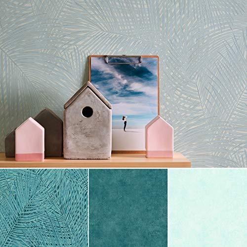 #Aquarell Urwald Palmen Blätter Wohnzimmer 3D Vliestapete Vintage Tapete Jungle Wandbild Tapeten Retro Fototapete Made in Germany