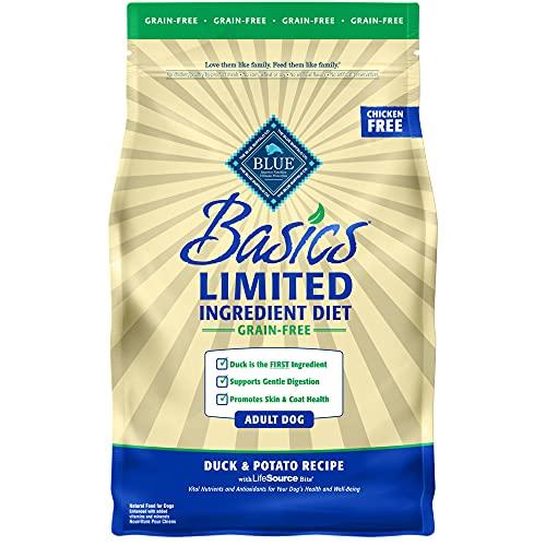 Blue Buffalo Basics Limited Ingredient Diet, Grain Free Natural Adult Dry Dog Food, Duck & Potato 4-lb