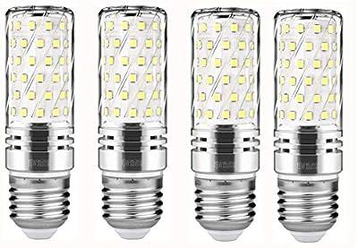 JKLcom E26 LED Corn Bulbs 15W LED Candle Bulbs 15W LED Candelabra Light Bulbs,120W Incandescent Bulbs Equivalent, White 6000K,E26 Medium Base, Non-Dimmable, Pack of 4