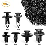 GOOACC - GRC-47 Universal Plastic Fender Clips,200 Pcs Push Bumper Fastener Rivet Clips with 6 Size Auto Body Retainer Clips Bumpers,Car Fender Replacement for GM, Ford & Ch