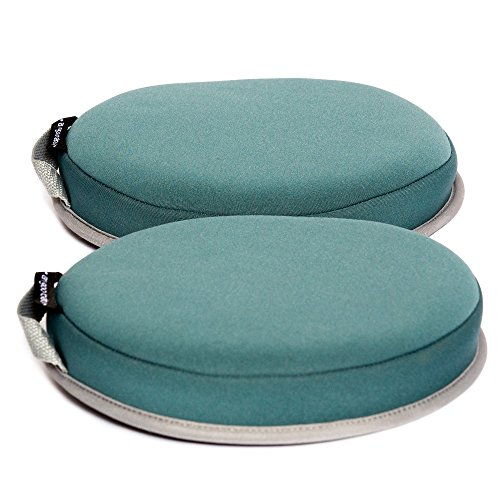 Bath Kneelers for Comfortable Baby Bath Tub Time - Two Separate Knee Pads With EVA Foam Cushions Padded Bath Kneeler - Ah Goo Baby SoftSpotz - Non-Slip, Quick-Dry and Machine Washable - (Blue/Sky)
