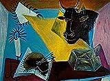 THTHTH Famoso Pintor español Picasso Poster Lienzo Abstracto Arte de la Pared Pinturas e Impresiones Vintage para la Sala de Estar Decoración del hogar Imagen 60x90cm x1 Sin Marco