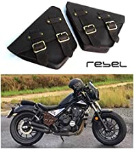 HONDA REBEL CMX 300-500 2017-2019 SADDLE BAG SIDE FRAME COVER FAIRING GENUINE LEATHER FOR HONDA REBEL CMX 300-500