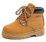 DADAWEN Baby's Boy's Girl's Classic Waterproof Outdoor Insulated Winter Snow Boots Yellow US Size 11.5 M Toddler