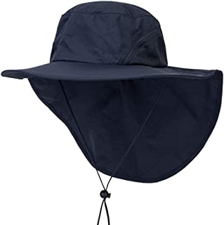 YEZIJIN Unisex Wide Brim Sun Hat with Neck Flap Fishing Safari Cap for Outdoor Hiking 2019 Best Outdoor Sun Visor Hat