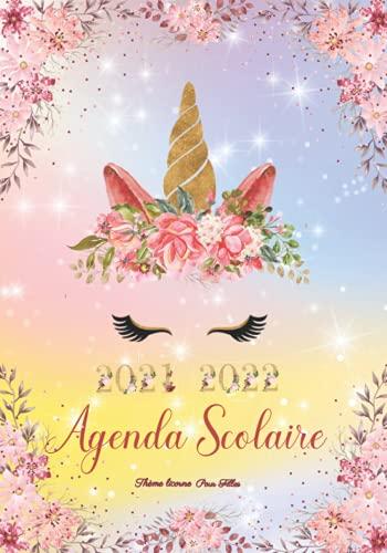 | Agenda Scolaire 2021-2022 Pour Filles Thème Licorne |: De Septembre 2021 à Juillet 2022 | Étudiant(e) Fille Pour Collège Lycée École Primaire | pour planifier une année scolaire réussie.