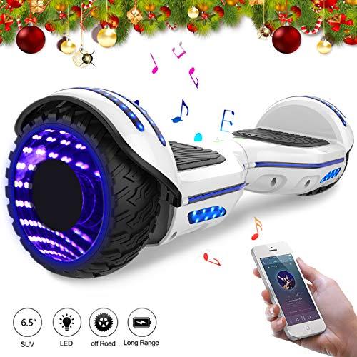 Mega Motion Hoverboard Elettrico 6.5'' E-Star,Scooter Elettrico Auto bilanciamento Ruote con LED Bluetooth, Motore 700W