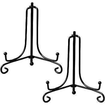 2 stücke Schmiedeeisen Platte Ständer Desktop Fotohalter Handwerk Staffelei für