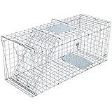 動物用捕獲器 アニマルトラップ 踏み板式 野良猫 小動物 保護 害獣駆除 農業/作物保護 簡単組立・設置