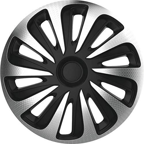 kh Teile Radkappen 17 Zoll Caliber schwarz/Silber 17' 2-Fach lackiert Radzierblenden 4er Set komplett