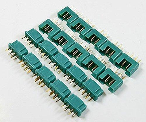Premium Modellbau Stecker Anschlüsse aus Deutschland von Modellbau Eibl® - Wählen Sie Ihre Variante - EC2 EC3 XT30 XT60 MPX T Dean JST MR30 HXT 2mm HXT 4mm Stecker UVM. (MPX - 10 Paar)