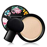 Mushroom Head Air Cushion BB Cream, Concealer Lasting Nude Makeup Moisturizing Brightening Pigment CC Liquid Foundation, Even Skin Tone Makeup Base Primer (Naturai white)