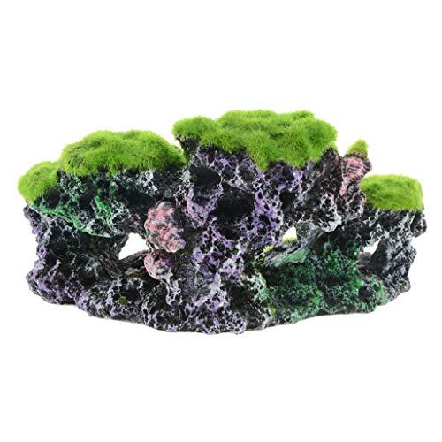 Manman Aquarium Ornament Coral, Aquarium Unterwasser Künstliche Moos Korallenriff Skulptur Aquarium Dekoration- 17X9.5X8Cm / 6.69X3.74X3.15In