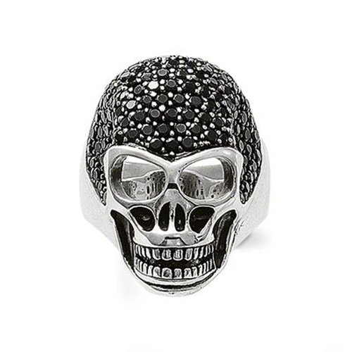 Thomas Sabo Damen-Ring Rebel at heart 925 Silber Zirkonia schwarz Gr. 54 (17.2) - TR1705-051-11-54