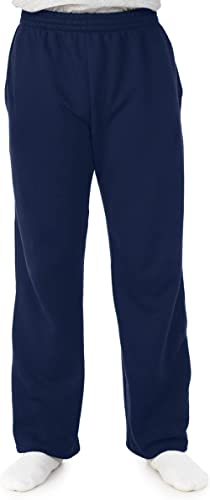 Fruit of the Loom Men's Sofspun Fleece Open Bottom Sweatpants