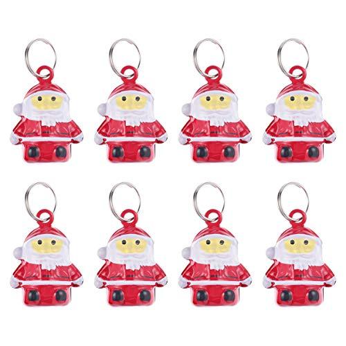 Balacoo 10 Stück Haustier Halsband Glocken Haustier Weihnachtsglocke Hund Katze Santa Claus Jingle Glocken für Haustier Halskette Liefert Weihnachten Hängen Dekor