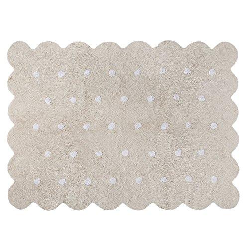 Lorena Canals - Alfombra lavable, Beige (Biscuit Beige), 120x160 cm