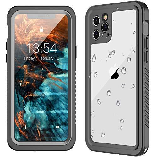 GOLDJU iPhone 11 Pro Waterproof Case【2019 New】 360°Protective Built-in Screen Protector IP68 Underwater Shockproof Waterproof Case for iPhone 11 (5.8inch)