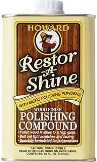 Howard RS0016 Restor-A-Shine Wood Finish Polishing Compound - 16 oz