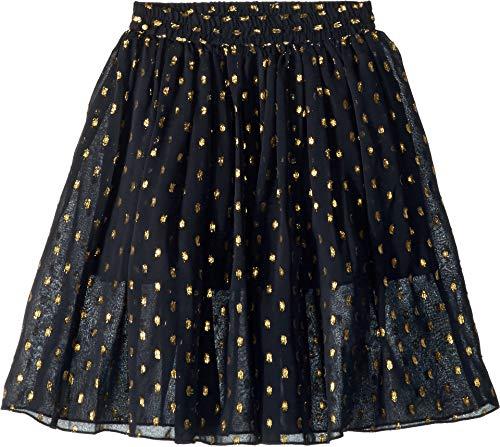 Stella McCartney Kids Girl's Amalie Gold Polka Dot Tulle Overlay Skirt (Toddler/Little Kids/Big Kids) Black 14 (Big Kids)