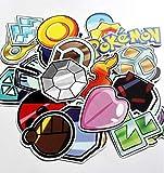ZJJHX Pokemon Badge Autocollant téléphone Portable Tablette Bagages...