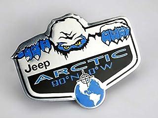 BENZEE B383 Arctic 90¡ãN 0¡ãW Car Emblem Badge Sticker for Jeep Cherokee